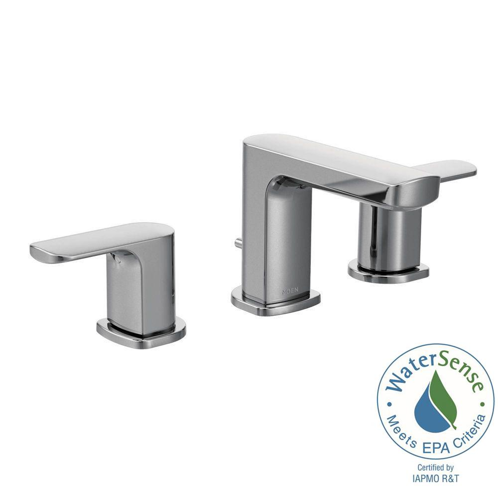MOEN Rizon 8 in. Widespread 2-Handle Bathroom Faucet Trim Kit in ...