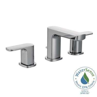 Rizon 8 in. Widespread 2-Handle Bathroom Faucet Trim Kit in Chrome (Valve Not Included)