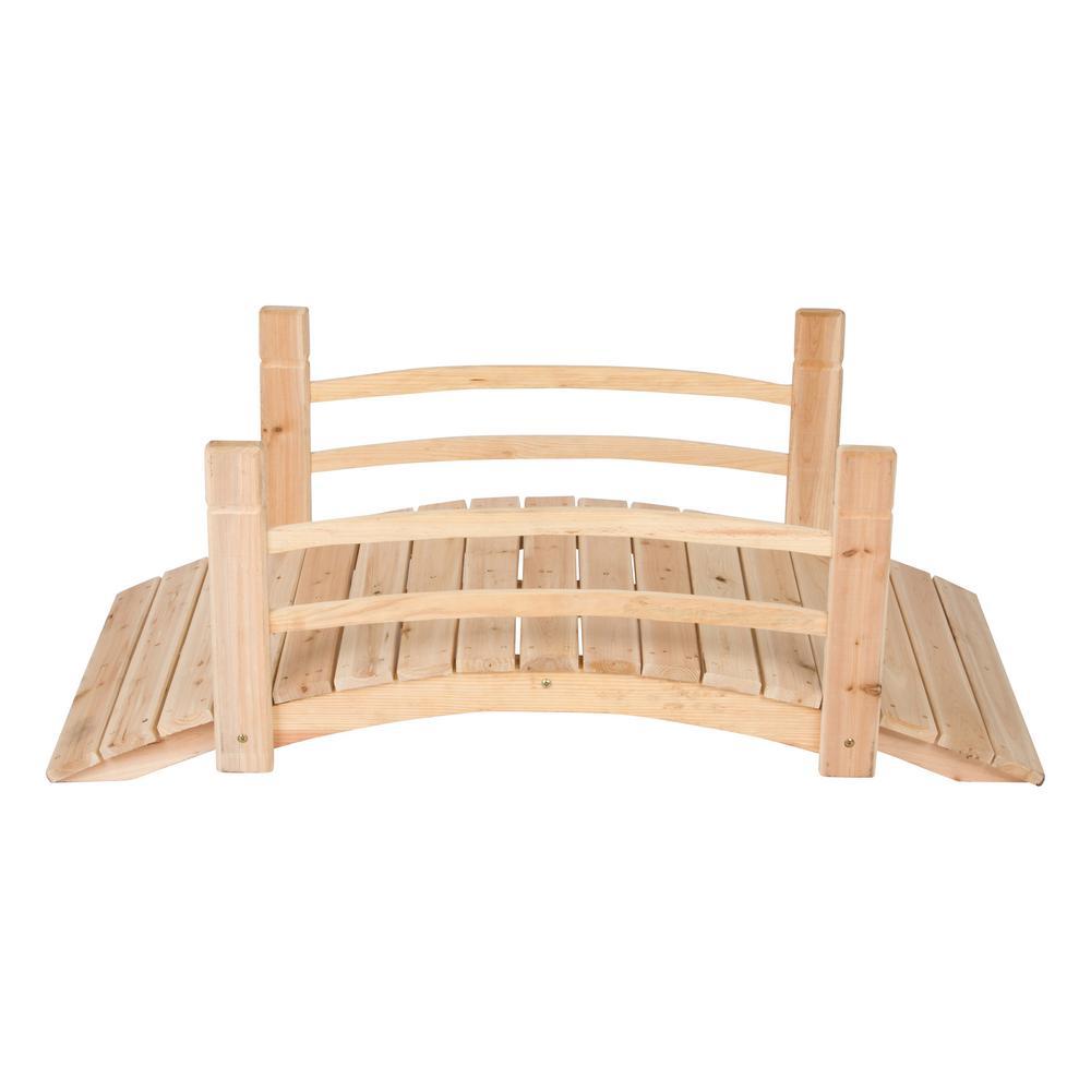 4 ft. Natural Cedar Garden Bridge