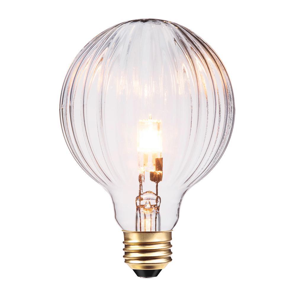 globe electric 40w designer vintage globo halogen light bulb 84656 the home depot. Black Bedroom Furniture Sets. Home Design Ideas