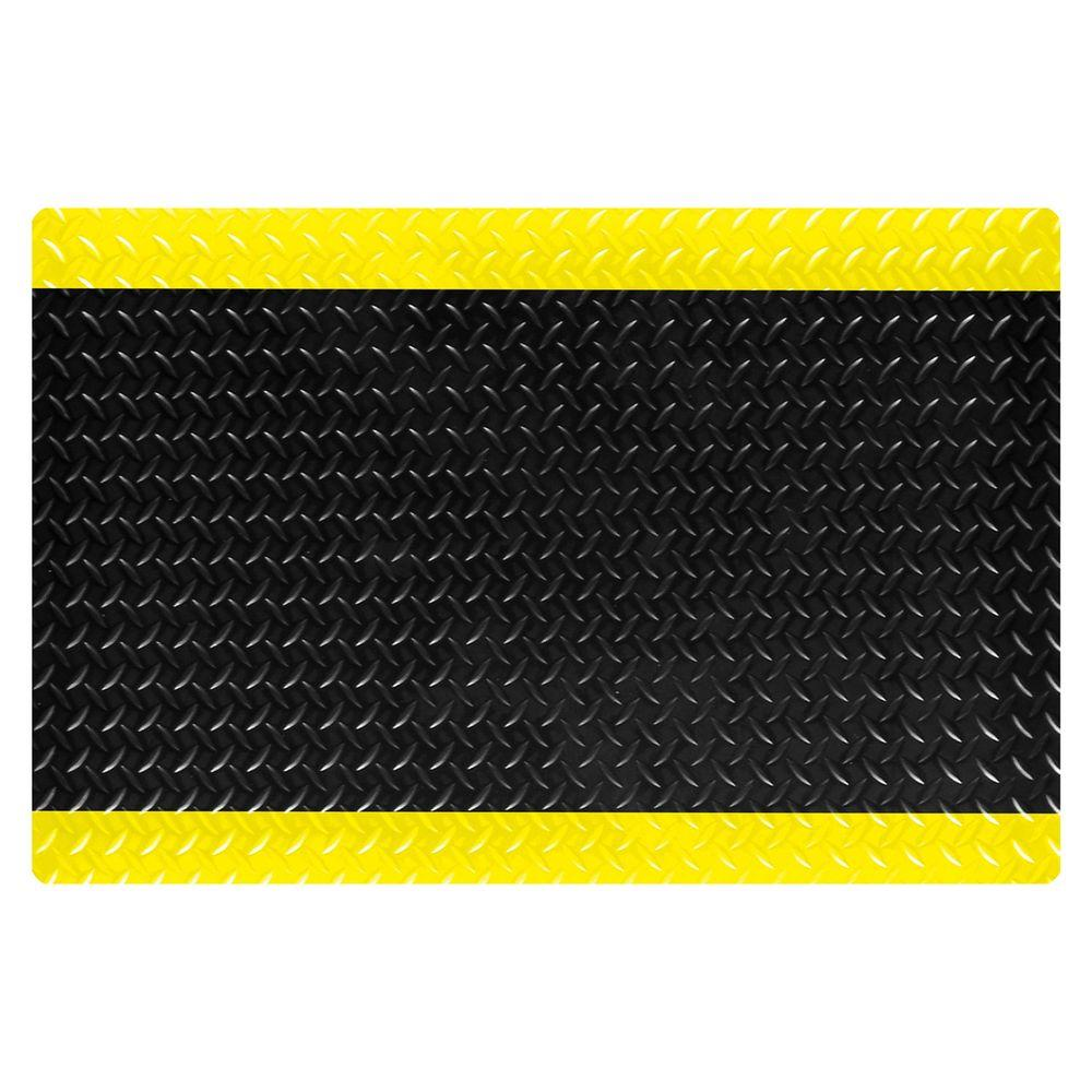 CushionTrax Black with Yellow Safety Borders 3 ft. x 5 ft.