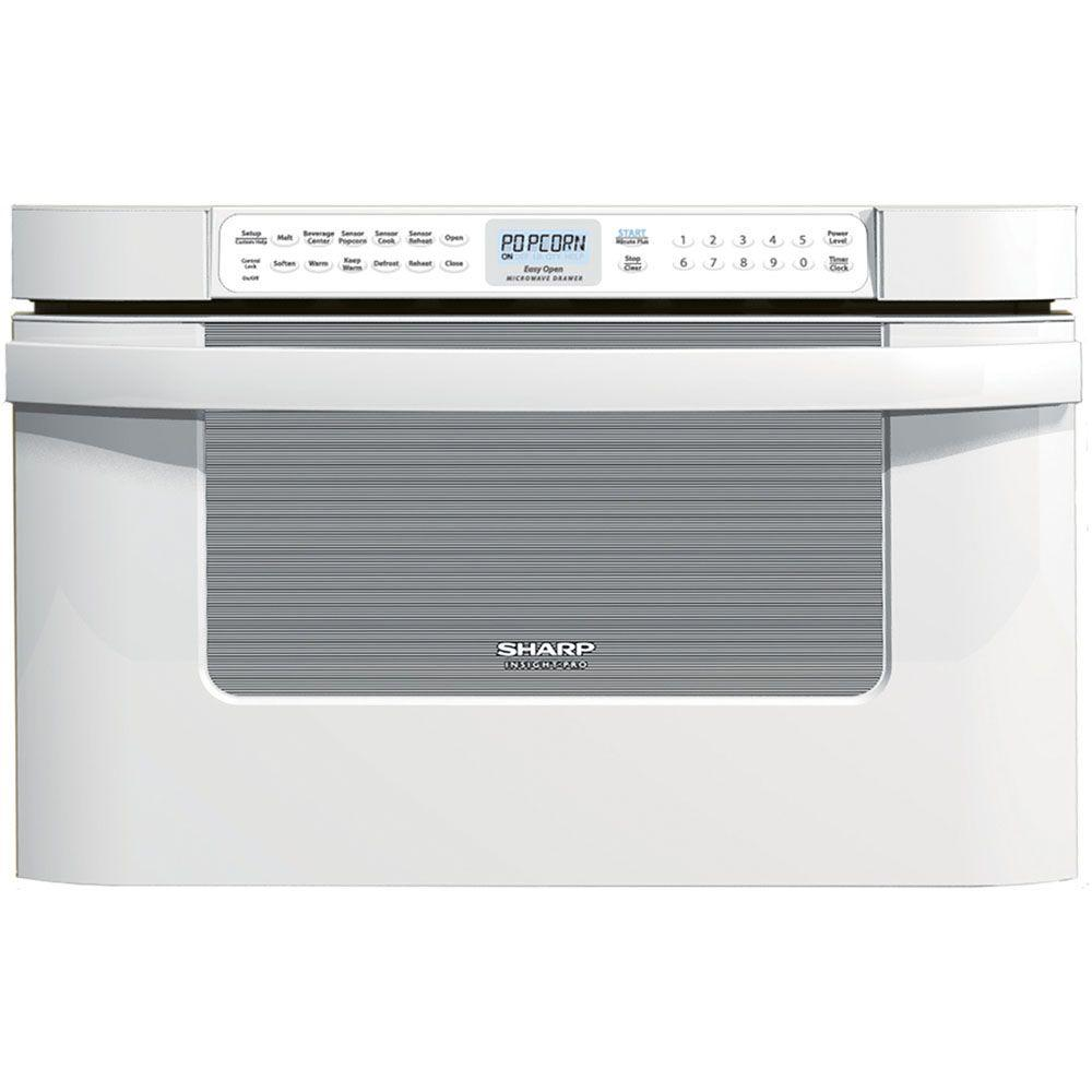 Sharp Refurbished Insight Pro 1.2 cu. ft. Microwave Drawer in White with Sensor Cooking-DISCONTINUED