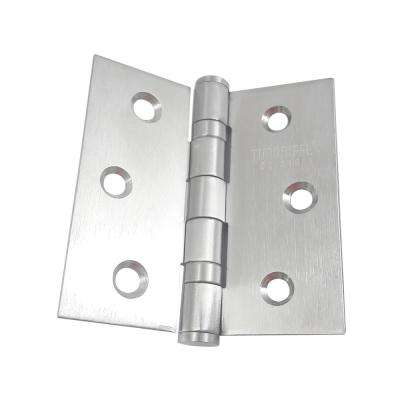 3-1/2 in. x 3-1/2 in. Stainless Steel Full Mortise Hinge with Ball Bearings