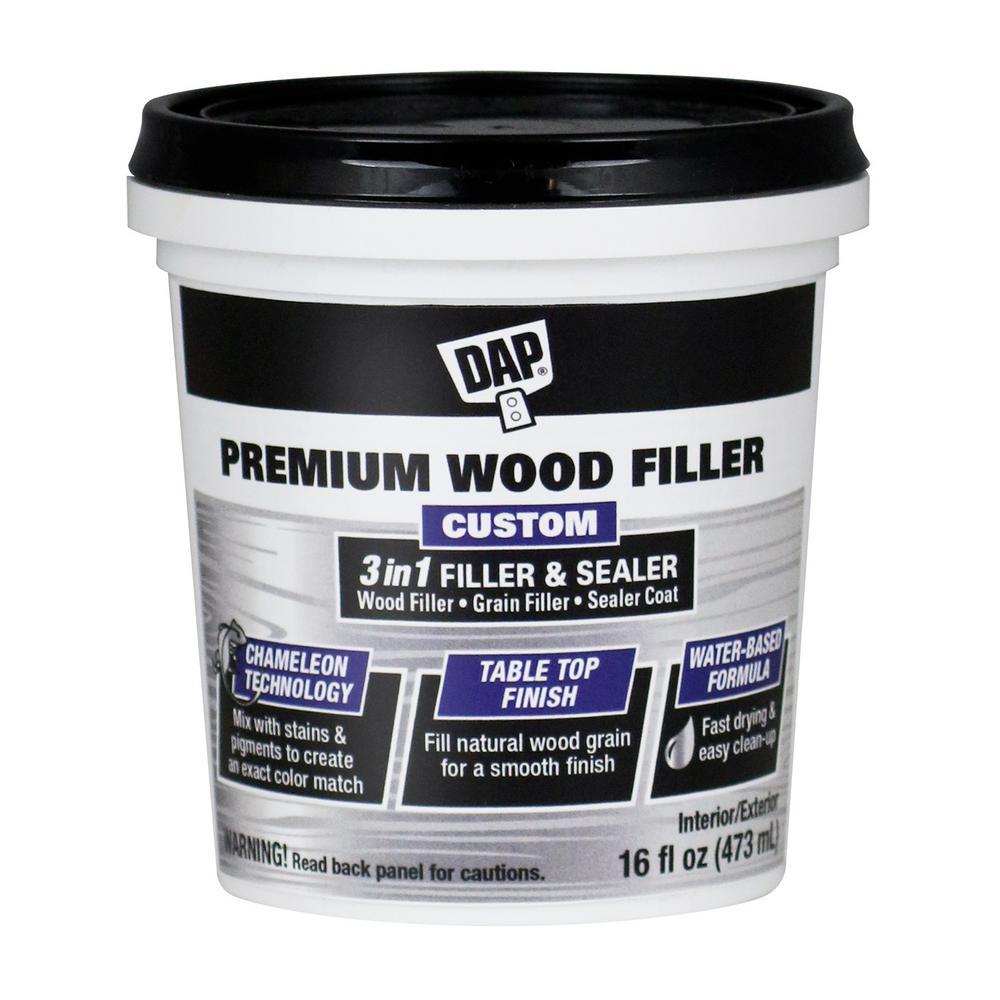 Premium Wood Filler 16 oz. White (4-Pack)