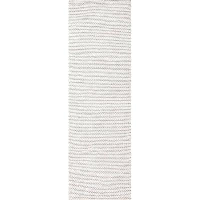 Caryatid Chunky Woolen Cable Off-White 3 ft. x 10 ft. Runner