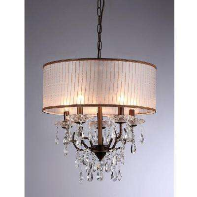 Scott 6-Light Antique Bronze Chandelier with Shade