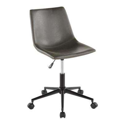 Duke Grey Faux Leather Industrial Task Chair