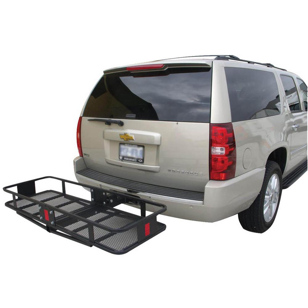 Erickson 500 lb. Capacity 60 inch x 20 inch Steel Hitch Cargo Carrier for 2 inch Receiver