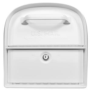 Architectural Mailboxes Oasis 360 White Locking Parcel