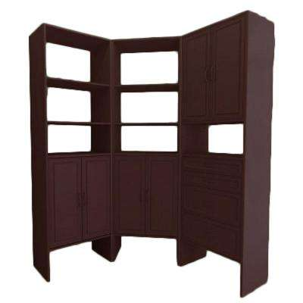 6.25 ft. 15 in. D x 75.25 in. W x 82.25 in. H Mocha Breakfast Nook Wood Closet System