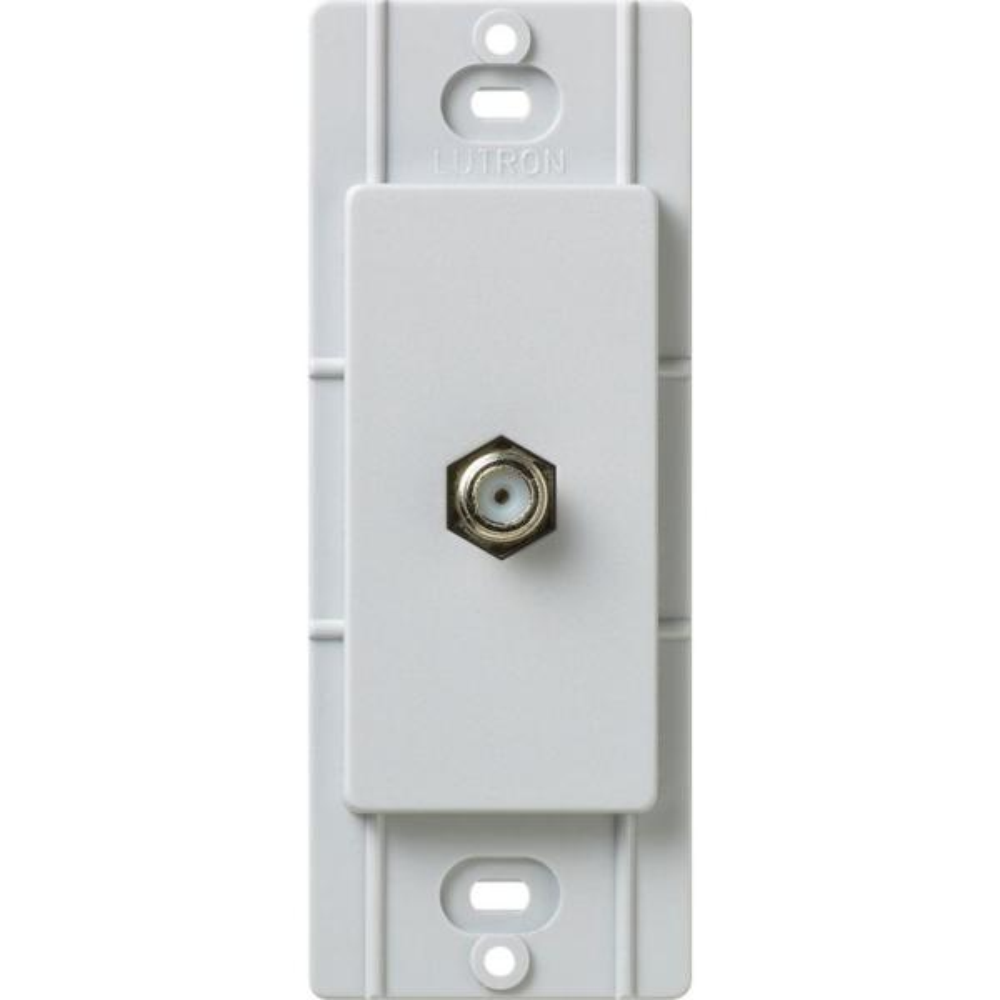 Satin Colors Coaxial Cable Jack - Palladium