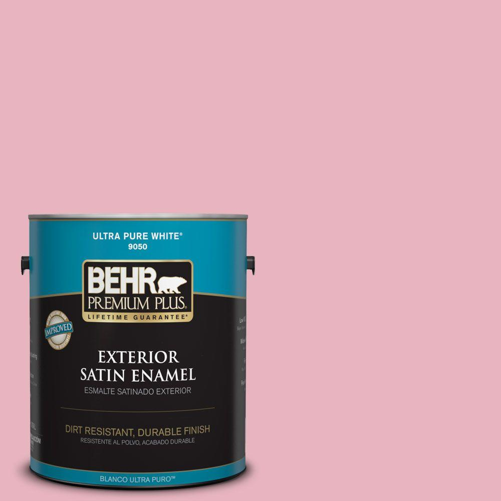 1-gal. #110C-2 Colonial Rose Satin Enamel Exterior Paint