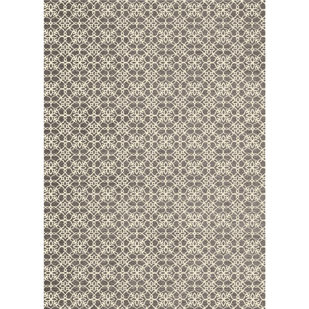 Ruggable Washable Floral Tiles Rich Grey 5 Ft X 7 Ft Stain