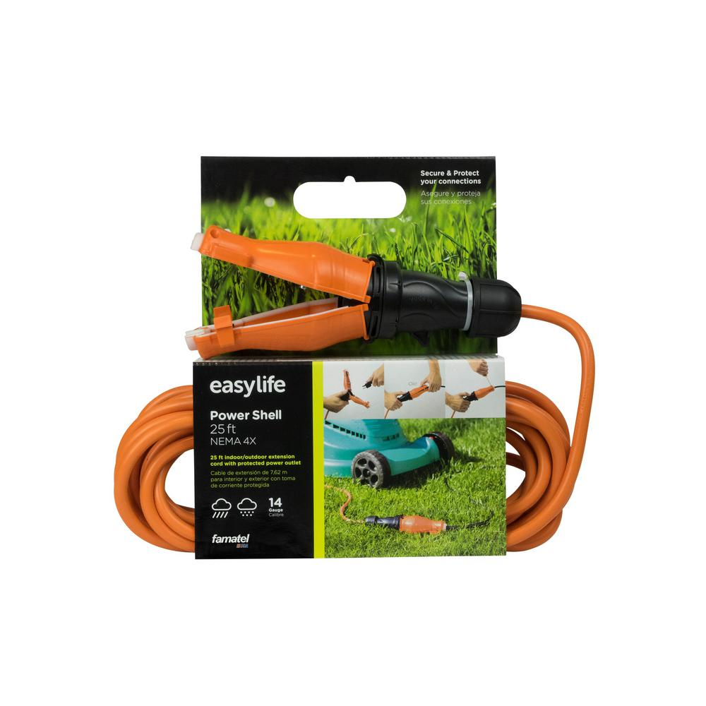 25 ft. 14/3 Heavy Duty 1-Outlet Extension Cord with IP67 Weatherproof