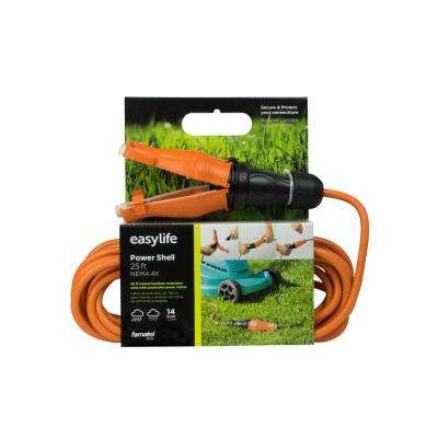 25 ft. 14/3 Heavy Duty 1-Outlet Extension Cord with IP67 Weatherproof and Rugged Safety Seal Lock