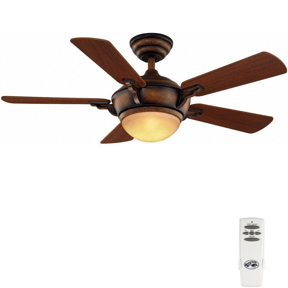 Hampton Bay Midili 44 In. Indoor Gilded Espresso Ceiling