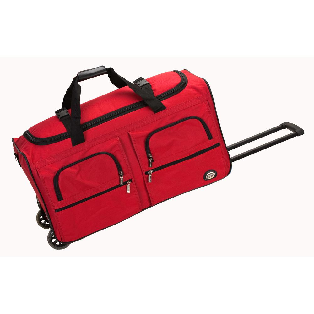 Rockland Voyage 36 In Rolling Duffle Bag Red