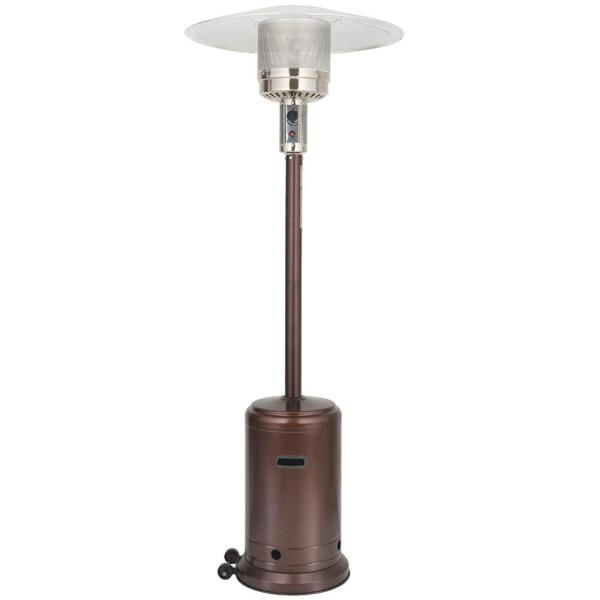 46000 BTU Brown Stand Propane Patio Heater in Brown