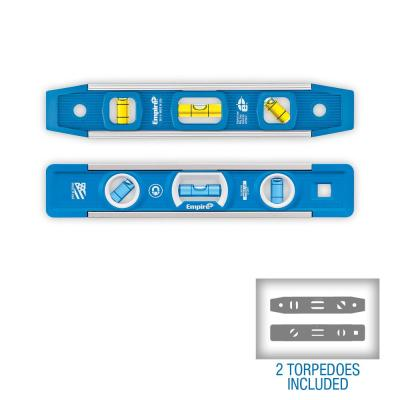 9 in. True Blue Professional Torpedo Level and 9 in. Magnetic Torpedo Level Set
