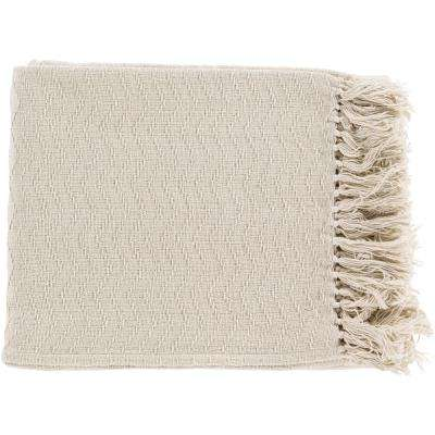 Stanley Ivory Cotton Throw