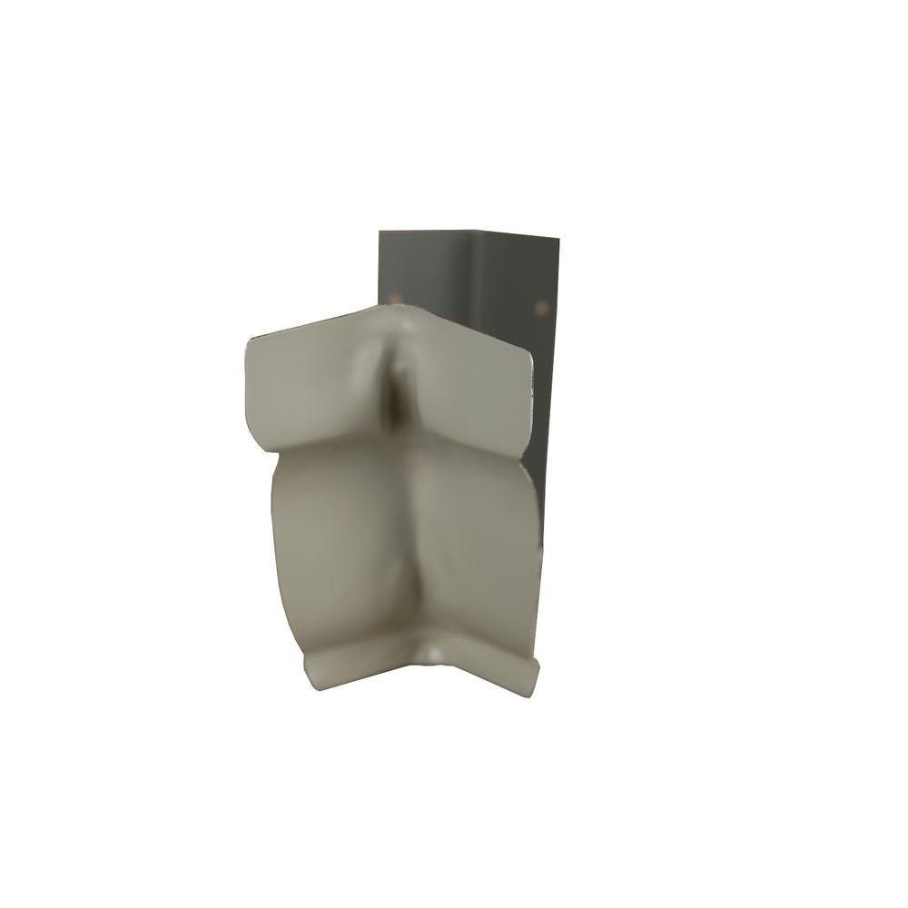 6 in. Pearl Gray Aluminum Inside Strip Miter