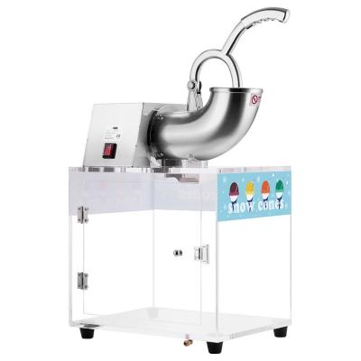 140 oz. 440lbs/hr Dual Blades Stainless Steel Snow Cone Machine with Acrylic Box