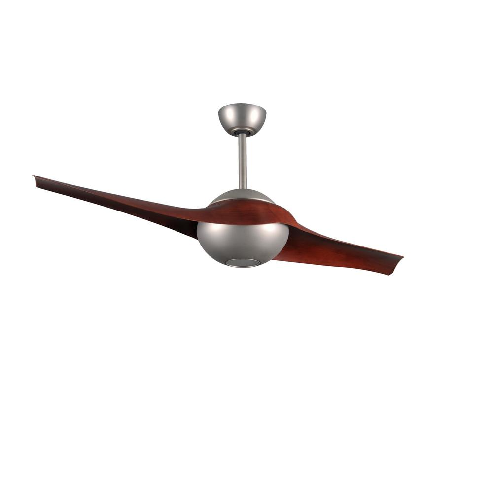 Radionic Hi Tech Pertoria 60 In 2 Blade Brushed Nickel Ceiling Fan