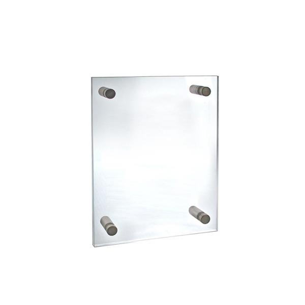 8.5 in. W x 11 in. H Standoff Acrylic Sign Holder