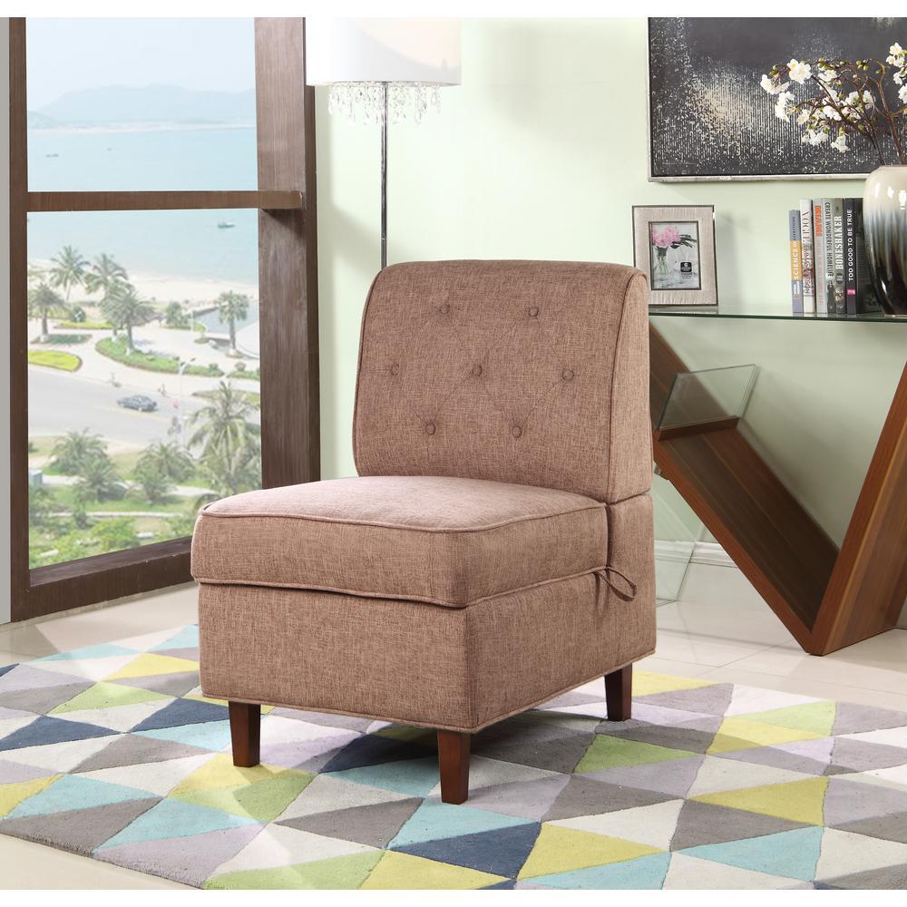 undefined Brown Storage Accent Chair