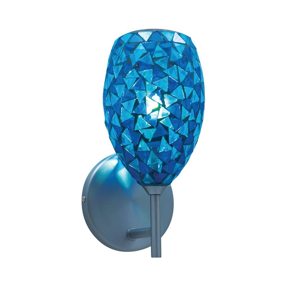 Jesco lighting 1 light low voltage blue companion wall sconce with jesco lighting 1 light low voltage blue companion wall sconce with mosaic glass amipublicfo Images