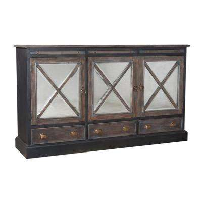 Belle Grove Graystone Buffet with 3 Drawers