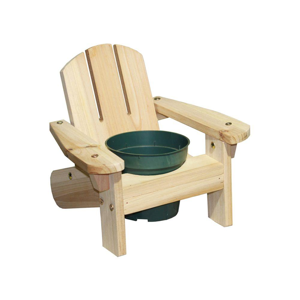 Lohasrus Mini Chair Planter in Natural 4-1/2 in. Pot Hole-DISCONTINUED