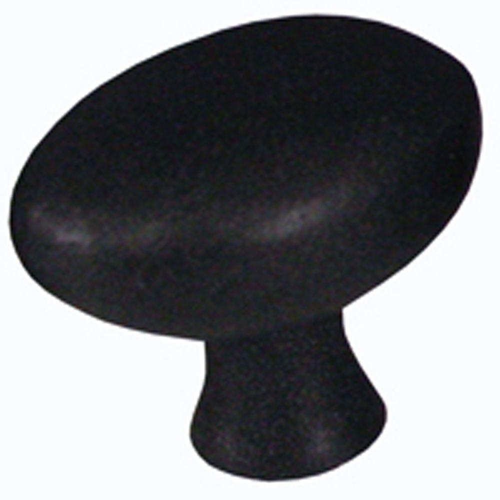 AIW 1-1/4 in. Black Egg-Shaped Cabinet Knob (Set of 5)-K11-BA-5 ...