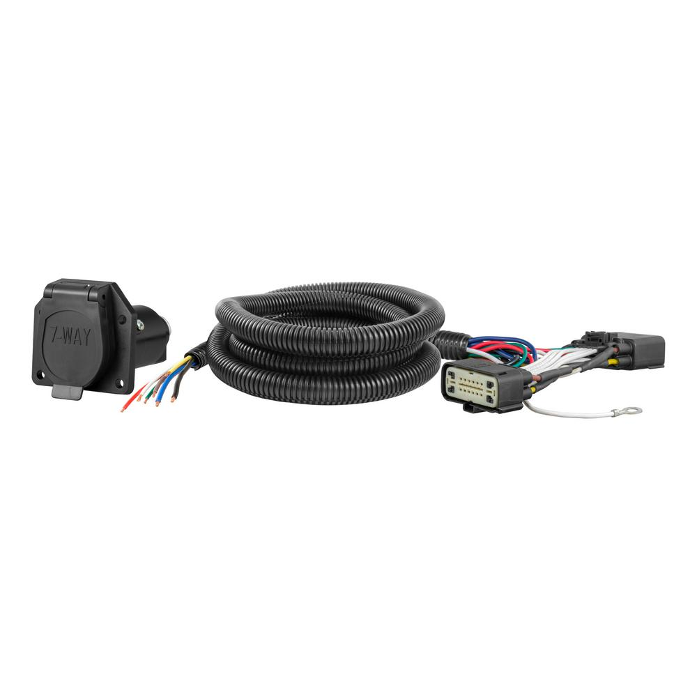 CURT Custom Vehicle-Trailer Wiring Harness, 7-Way RV Blade Output, Select  Ford Explorer, Quick Electrical Wire T-Connector-56278 - The Home Depot  The Home Depot