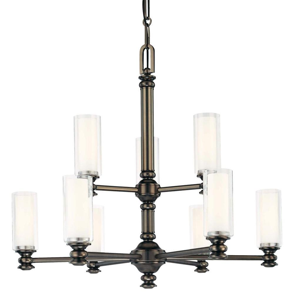 Harvard Court 9-Light Harvard Court Bronze Chandelier