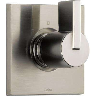 Vero 1-Handle 3-Setting Diverter Valve Trim Kit in Stainless (Valve Not Included)