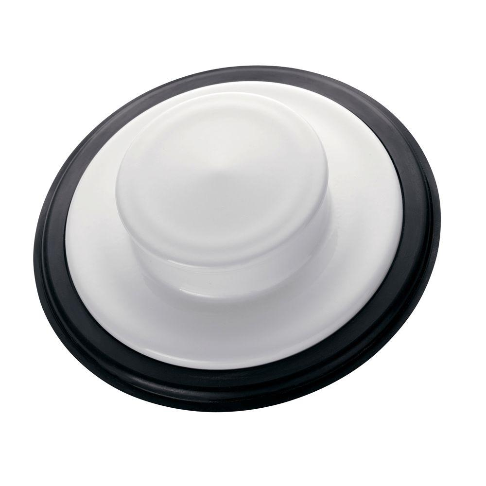Sink Stopper in White for InSinkErator Garbage Disposals