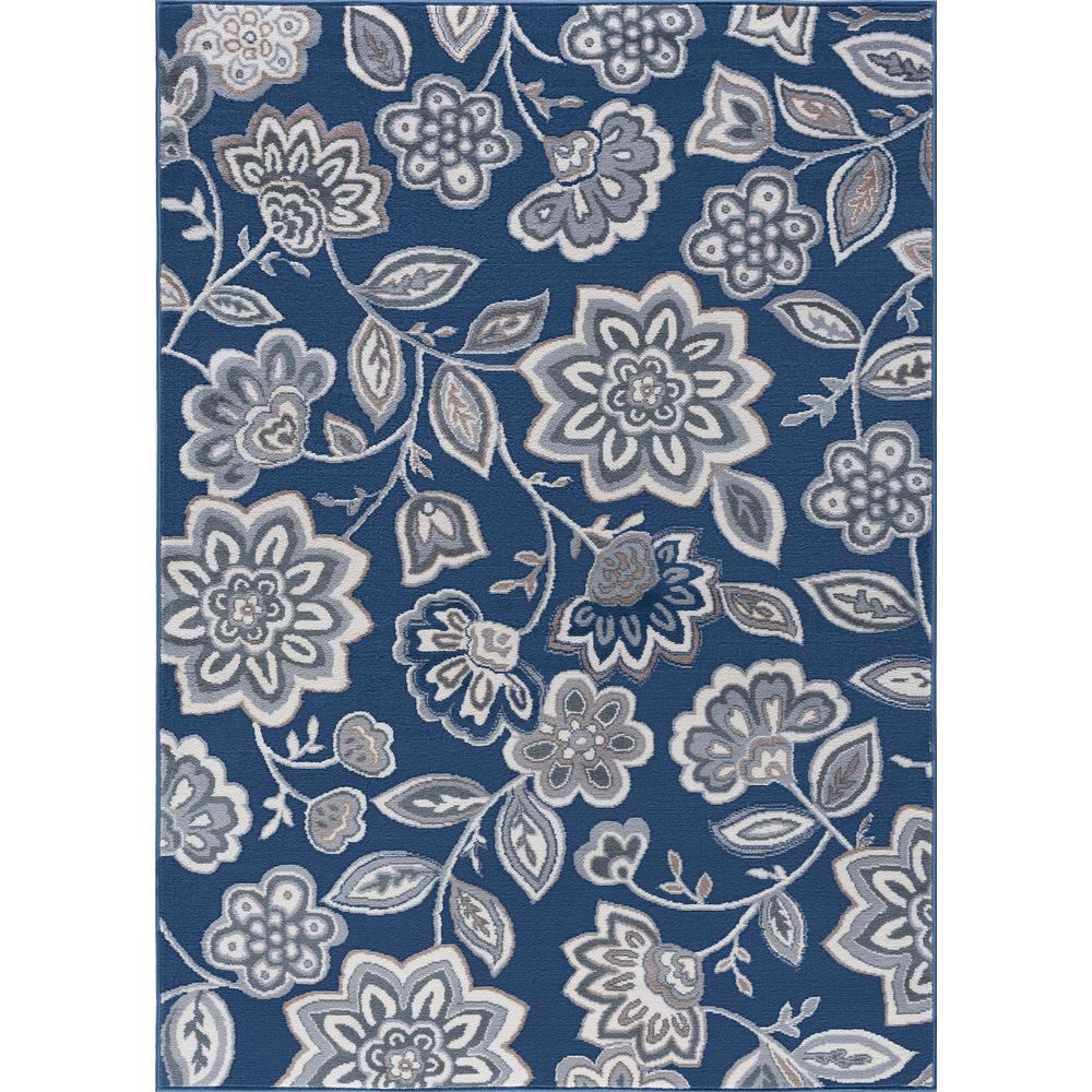Tayse Rugs Madison Navy 8 Ft X 10 Ft Area Rug