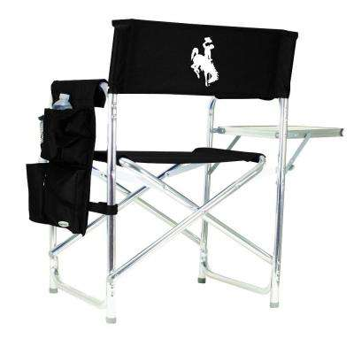 University of Wyoming Black Sports Chair with Embroidered Logo