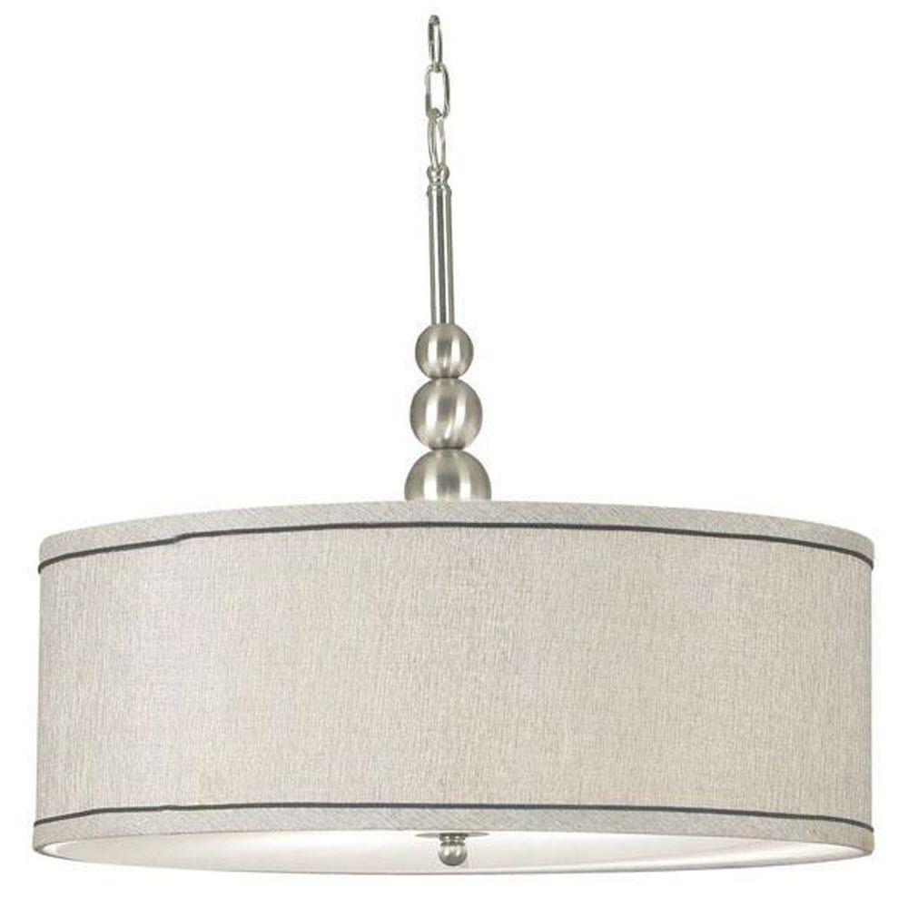 Luelle 3-Light Brushed Steel Pendant