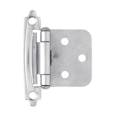 Chrome Self-Closing Overlay Cabinet Hinge (1-Pair)
