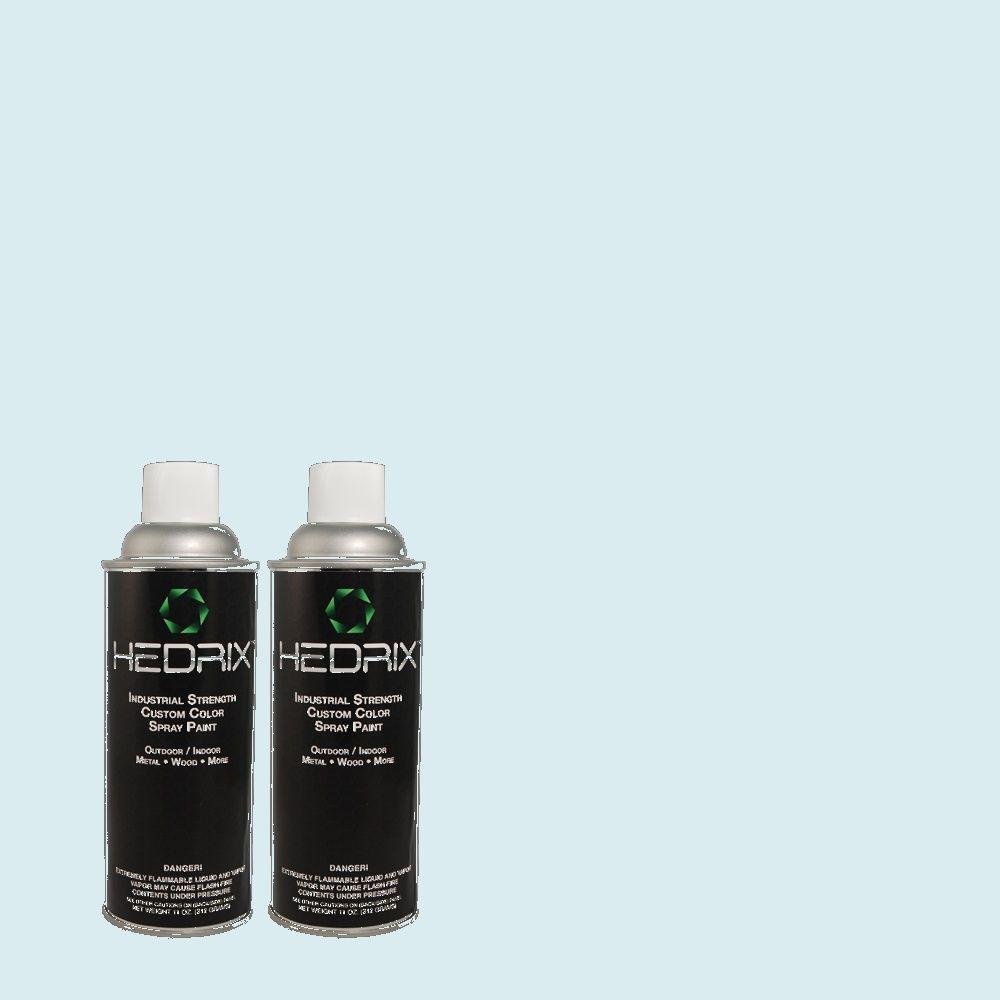 Hedrix 11 oz. Match of 540C-1 Mineral Water Flat Custom Spray Paint (2-Pack)