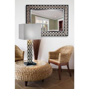 Home Decorators Collection Checker 38 In. X 28 In. Wood Framed Mirror