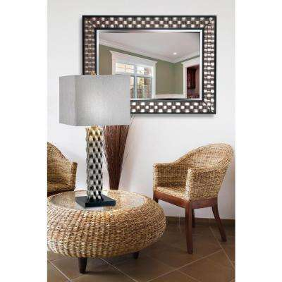 Checker 38 in. x 28 in. Wood Framed Mirror