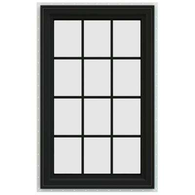 29.5 in. x 47.5 in. V-4500 Series Right-Hand Casement Vinyl Window with Grids - Bronze