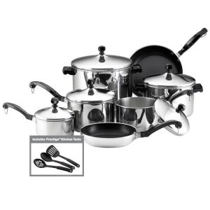 Farberware Classic Series 15-Piece Silver Cookware Set with Lids by Farberware