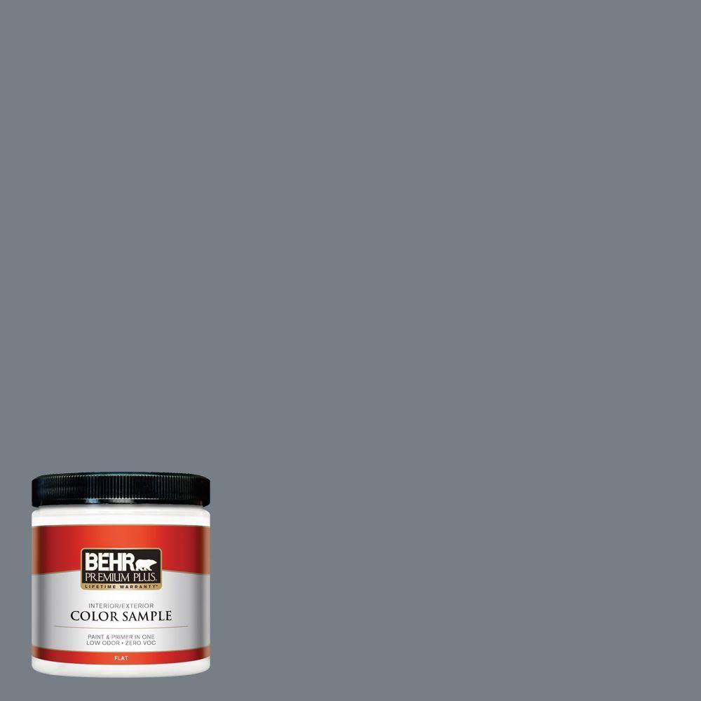 8 oz. #BNC-39 Peak Point Flat Interior/Exterior Paint and Primer in