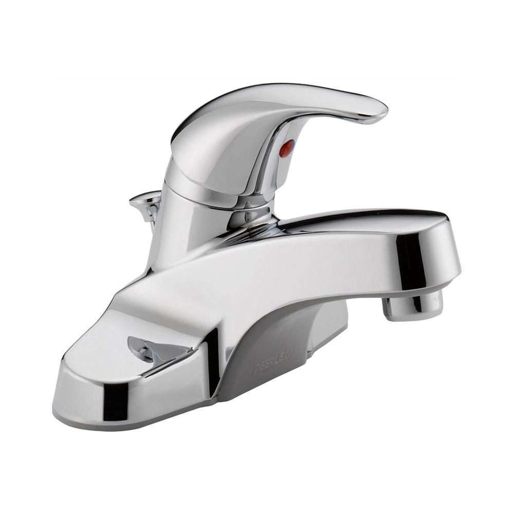 Peerless Core 4 in. Centerset Single-Handle Bathroom Faucet in Chrome