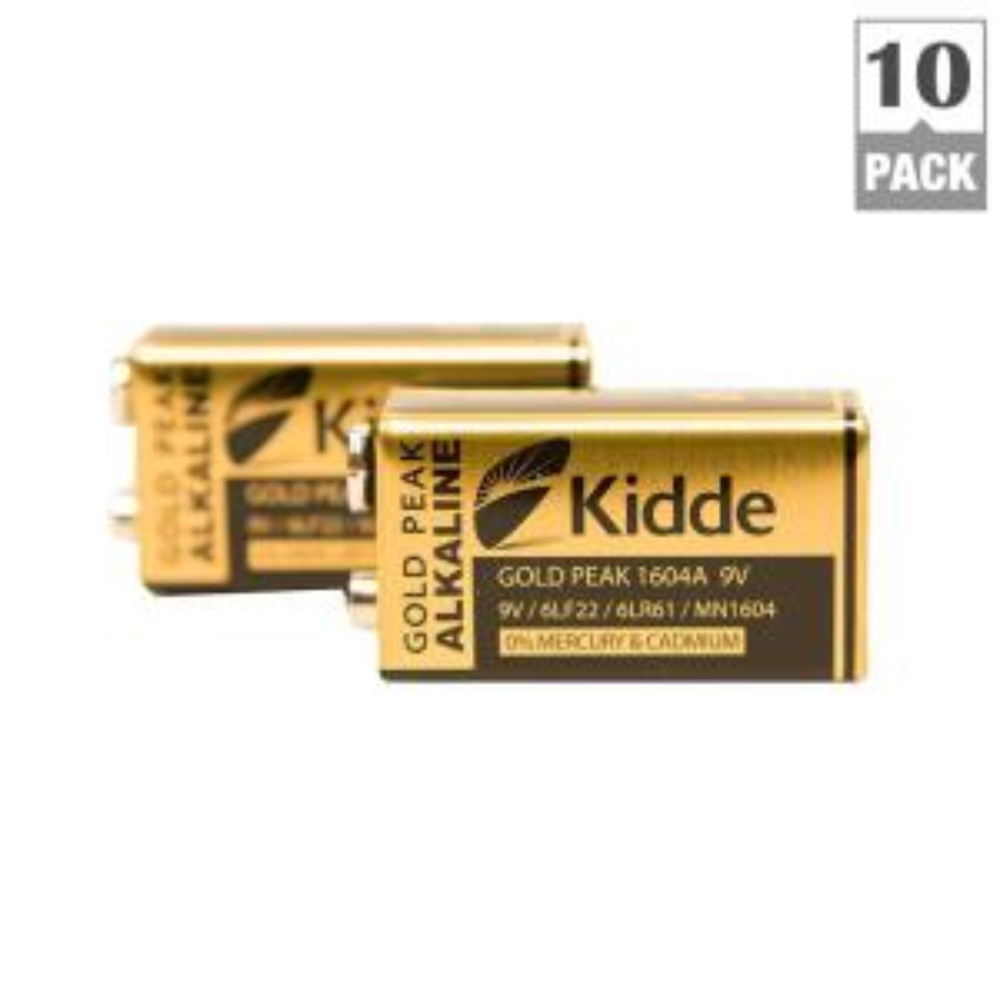Kidde 9-Volt Replacement Smoke Detector Battery (10 Pack) by Kidde