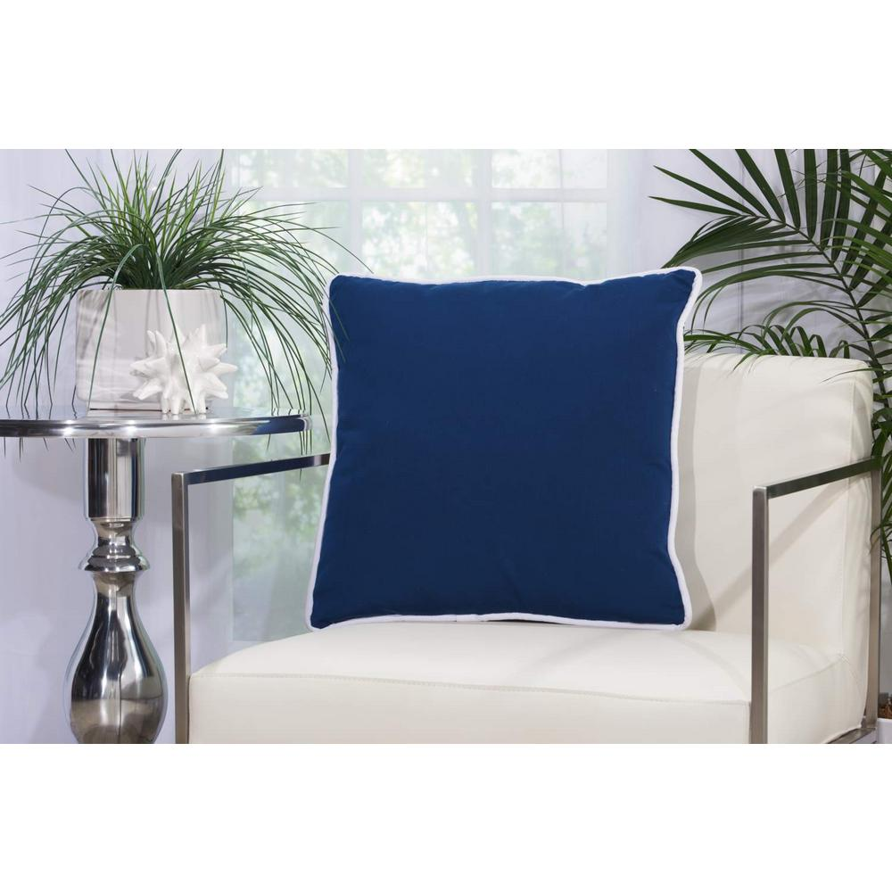 2 Sided Solid Corded 20 in. x 20 in. Navy Indoor